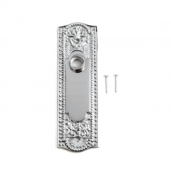 <PRE>Door Back Plate Chrome Solid Brass Beaded Without Keyhole 7 1/4inch H</PRE>zoom3