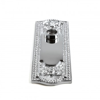 <PRE>Door Back Plate Chrome Solid Brass Beaded Without Keyhole 7 1/4inch H</PRE>zoom4
