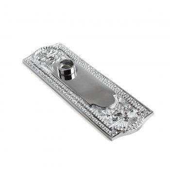 <PRE>Door Back Plate Chrome Solid Brass Beaded Without Keyhole 7 1/4inch H</PRE>zoom5