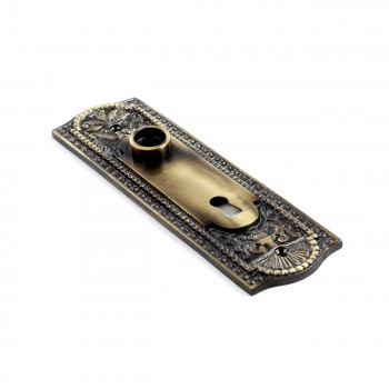 <PRE>Door Back Plate Antique Brass Beaded With Keyhole 7 1/4inch H</PRE>zoom4