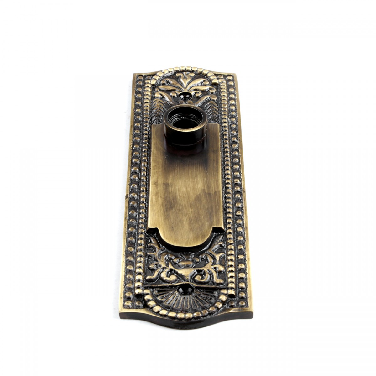 Door Back Plate Antique Brass Beaded Without Keyhole 7 14 H Door Plate Door Plates Antique Door Plate