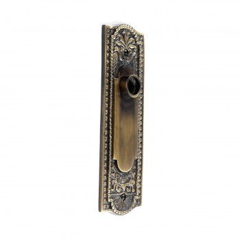 <PRE>Door Back Plate Antique Brass Beaded Without Keyhole 7 1/4inch H</PRE>zoom8