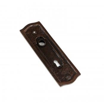 Door Back Plate Oil Rubbed Bronze Solid Brass Beaded With Keyhole 7 14 H Door Plate Door Plates Antique Door Plate