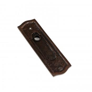 Door Back Plate Oil Rubbed Bronze Solid Brass Beaded Without Keyhole 7 14 H Door Plate Door Plates Antique Door Plate