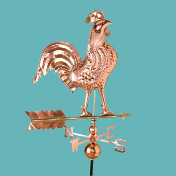 <PRE>Large Polished Weathervane Copper Rooster NESW with Mounts </PRE>zoom2