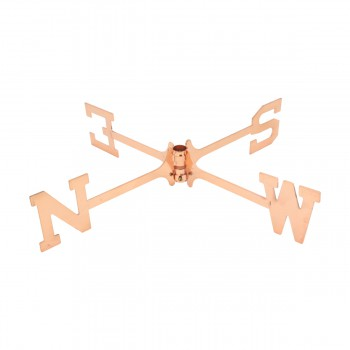 <PRE>Large Polished Weathervane Copper Rooster NESW with Mounts </PRE>zoom4