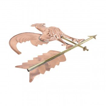 <PRE>Large Polished Weathervane Copper Rooster NESW with Mounts </PRE>zoom6