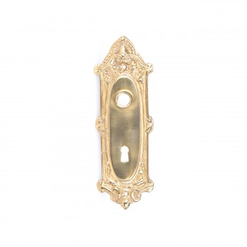 Door Back Plate Bright Solid Brass RSF Keyhole 7 34 H