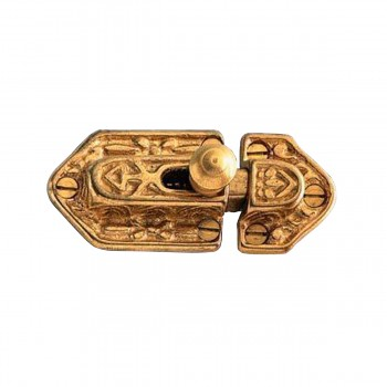 Bright Solid Brass Victorian Catch23235grid
