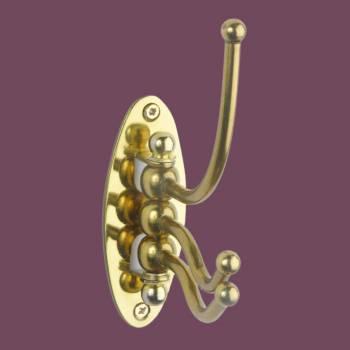 <PRE>Classic Swivel Hook Triple Solid Brass  </PRE>zoom2