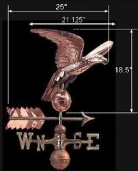 spec-<PRE>Weathervane Copper Eagle ONLY Freedom's Flight </PRE>