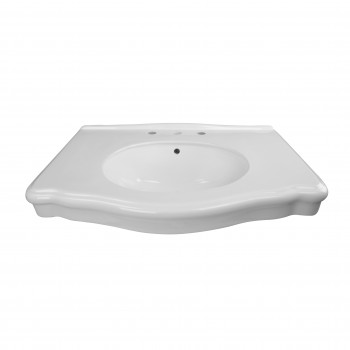 Bathroom Console Darbyshire Sink 8 Widespread White Basin Only Porcelain Double Console Sink Glossy wide spread Console Sinks widespread Bathroom Console Sink
