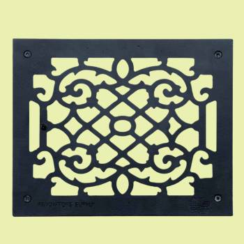<PRE>Heat Register Floor Vent Grate Cast Aluminum  9.5&quot; x 11 3/8 </PRE>