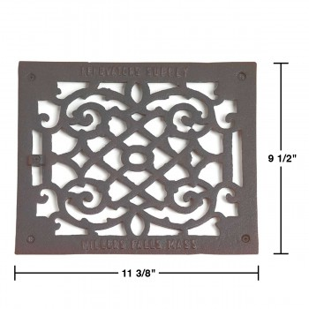 spec-<PRE>Heat Register Black Aluminum Air Grill 9 1/2 x 11 3/8 </PRE>