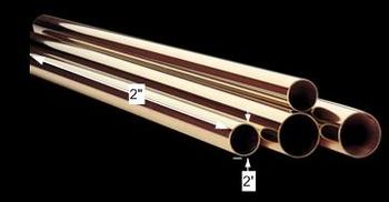 spec-<PRE>Bar Rail Polished Solid Brass Bar Rail Polished Brass Tubing 2 dia.</PRE>