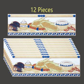 "<PRE>Ceramic Listello Tile Border Chair Rail 3inch x 10"" 12 Pcs </PRE>zoom2"