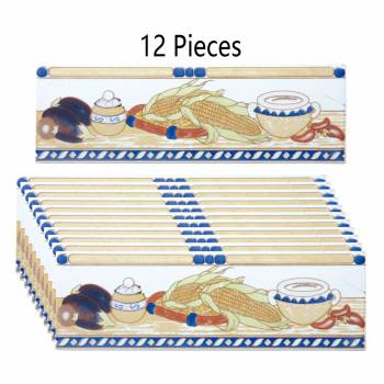 Ceramic Listello Tile Border Chair Rail 3 x 10 12 Pcs Wall Tile Wall Tiles Bathroom Tile