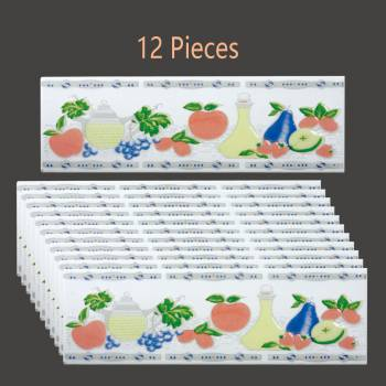 12 Pcs Ceramic MultiColored Tile 3 x 10 Wall Tile Wall Tiles Bathroom Tile