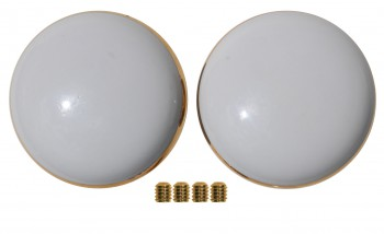 <PRE>Door Knobs White/Gold Porcelain Knob Pair </PRE>zoom3