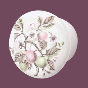 <PRE>Cabinet Knob Porcelain Apple 1 1/2inch Dia </PRE>zoom2