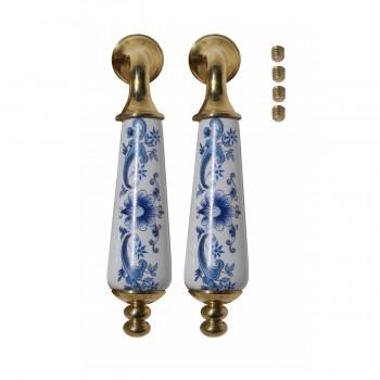 Door Levers Delft Blue Porcelain Handle Pair Door Lever Door Handles Door Levers