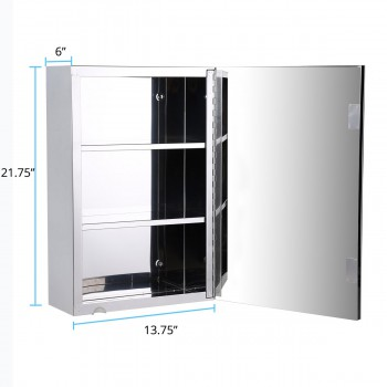 spec-<PRE>22&quot; Stainless Steel Medicine Cabinet Mirror Wall Mount Set of 2</PRE>