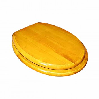 Round Toilet Seat Brass PVD Fittings Golden Amber Finish