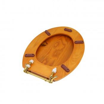 <PRE>Bathroom Toilet Seat Golden Amber Hard Wood Elong Brass PVD </PRE>zoom5