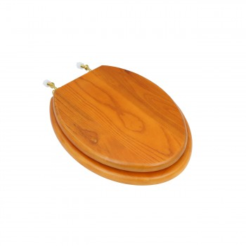 Bathroom Toilet Seat Golden Amber Hard Wood Elong Brass PVD