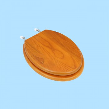 spec-<PRE>Bathroom Toilet Seat Golden Amber Hardwood Elong Chrome </PRE>