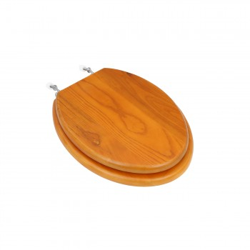<PRE>Bathroom Toilet Seat Golden Amber Hardwood Elong Chrome </PRE>zoom1