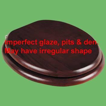 Toilet Seats Cherry Finish Hardwood Elongated Imperfect Toilet Seat Toilet Seats Hard Wood Toilet Seats
