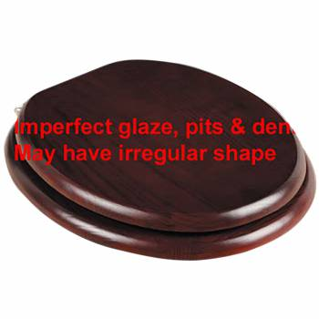 <PRE>Toilet Seats Cherry Finish Hardwood Elongated Imperfect </PRE>zoom1