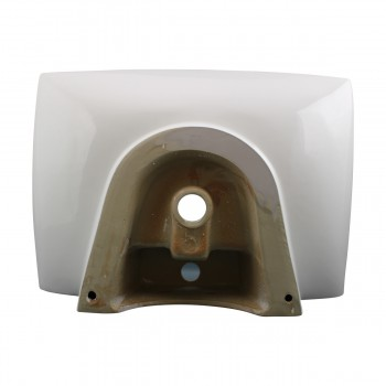 <PRE>Bathroom Sink White China Deluxe Square Wall Mount Set of 2</PRE>zoom6