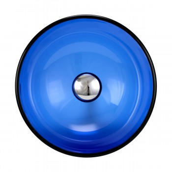 <PRE>Blue Tempered Glass Vessel with Drain, Mounting Ring, Mini Sink Mount Set of 2</PRE>zoom3