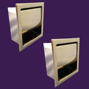 <PRE>Recessed Toilet Paper Tissue Holder Gold Stainless Steel Pack of 2</PRE>zoom2