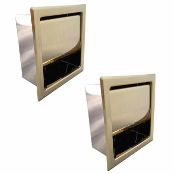 <PRE>Recessed Toilet Paper Tissue Holder Gold Stainless Steel Pack of 2</PRE>zoom1