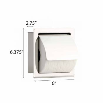 spec-<PRE>2 Recessed Stainless Stainless Steel Toilet Tissue Holder With Lid </PRE>