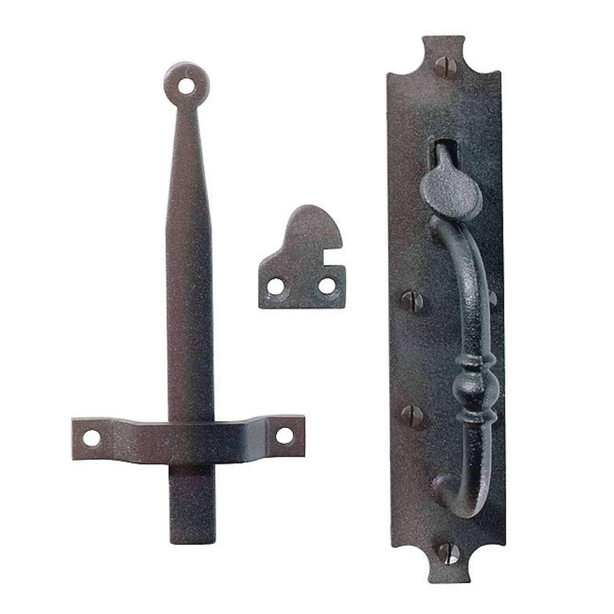 Cast Iron Door Latch Black Colonial Norfolk 8 Tall