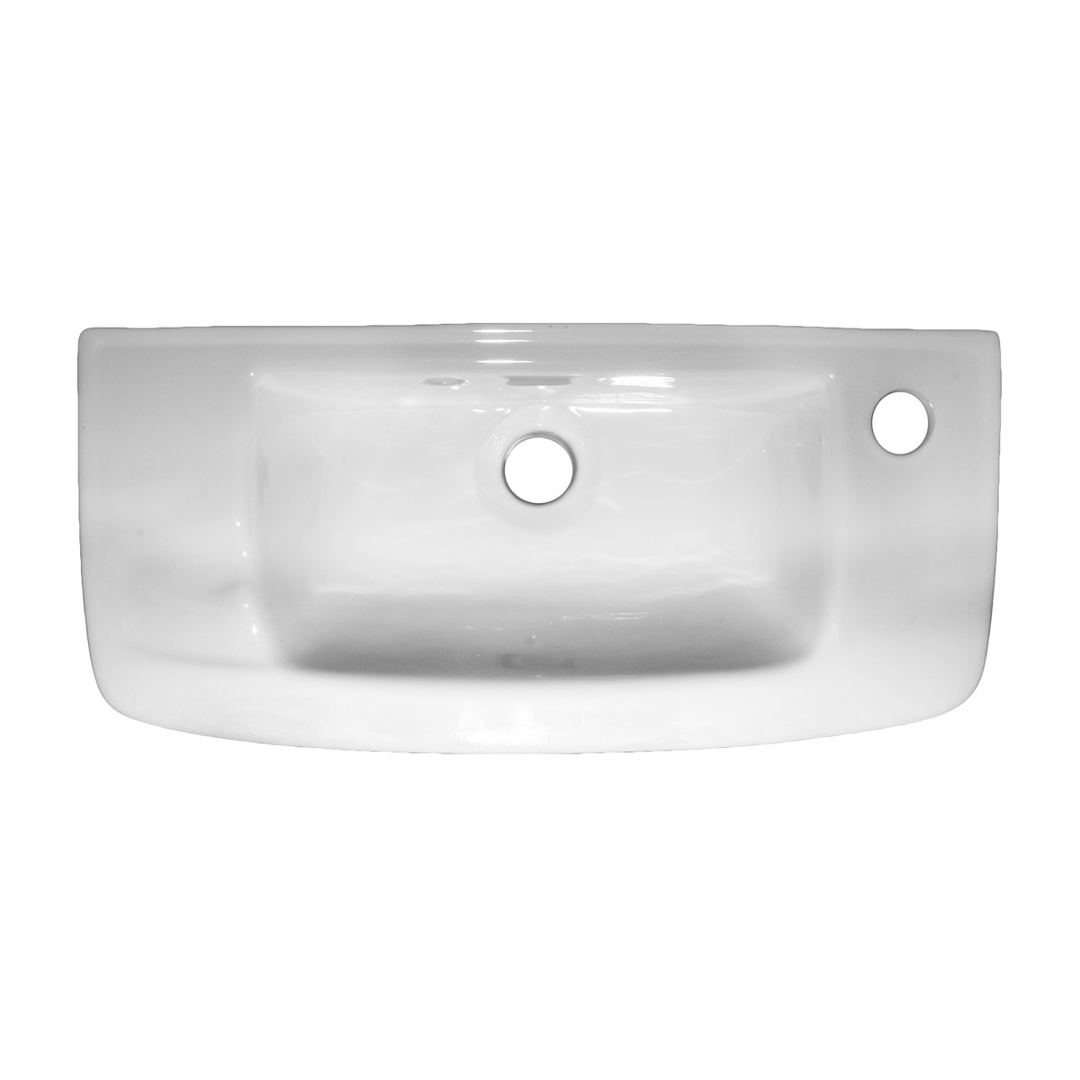 Bathroom Wall Mount Sink in White with Chrome Faucet and Drain small wall mount sink bathroom wall hung sink small bathroom sink