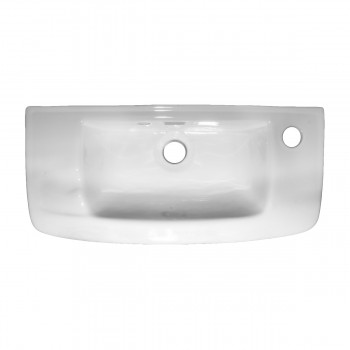 <PRE>White Wall Mount Bathroom Sink Complete Set With Chrome Drain And Faucet</PRE>