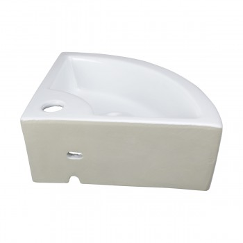 <PRE>Bathroom Triangle Small White Corner Vessel Sink Above Counter Stain Resist</PRE>zoom4