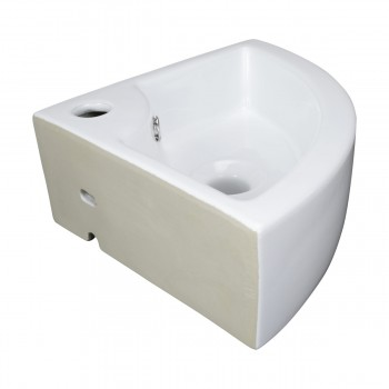 <PRE>Bathroom Triangle Small White Corner Vessel Sink Above Counter Stain Resist</PRE>zoom3