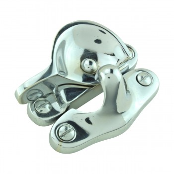 <PRE>2 Traditional Solid Brass Window Sash Lock Bright Chrome </PRE>zoom5