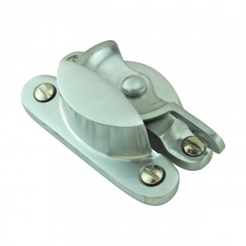 <PRE>2 Traditional Solid Brass Window Sash Lock Satin Chrome  </PRE>zoom5