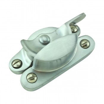 <PRE>2 Traditional Solid Brass Window Sash Lock Satin Chrome  </PRE>zoom6