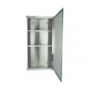 <PRE>Brushed Stainless Steel Medicine Cabinet Corner Wall Mount Set of 2</PRE>zoom3