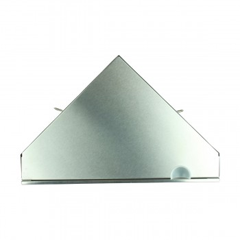<PRE>Brushed Stainless Steel Medicine Cabinet Corner Wall Mount Set of 2</PRE>zoom9