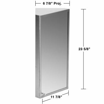 spec-<PRE>Brushed Stainless Steel Medicine Cabinet Corner Wall Mount Set of 2</PRE>