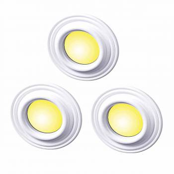 "<PRE>Spot Light Ring White Trim 5inch ID x 9"" OD Mini Medallion Set of 3</PRE>zoom1"